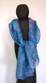 sjaal_lichtblauw_hoogblauw_textiel_linnen_textielkunst_jenny_reyn aert_koksijde_wulpen